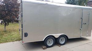 Mirage trailer 8.5x16 ramp rear door 2017 for Sale in Salt Lake City, UT