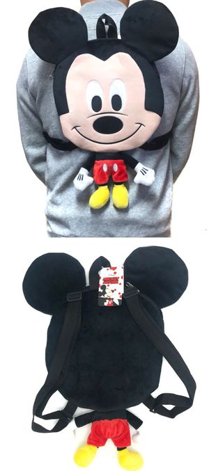 Brand NEW! Mickey Mouse Novelty Plush Backpack For Everyday Use/Christmas Gifts/Disneyland Trips $18 for Sale in Carson, CA