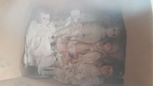 Real ceramic w real hair dolls vintage antique for Sale in San Bernardino, CA