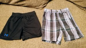 Boys Shorts Under Armour & Hurley 18mo 2t both for $4 for Sale in Modesto, CA