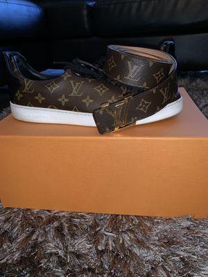Louis Vuitton shoes w/ belt for Sale in Orlando, FL
