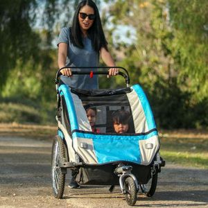 CLEVR ELITE 3-IN-1 DOUBLE 2 SEAT BIKE BICYCLE TRAILER JOGGER STROLLER for Sale in ROWLAND HGHTS, CA
