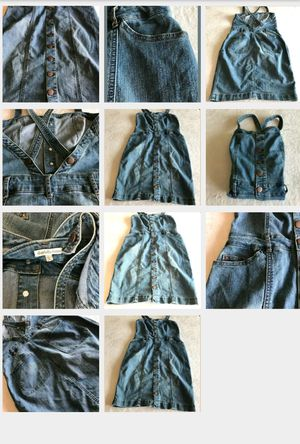 Charllotte Russe Denim Overall dress jeans Lg for Sale in Garden Grove, CA