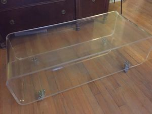 CB2 acrylic media console / coffee table for Sale in Las Vegas, NV
