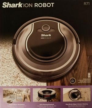 New Shark ion robot cleaning system with remote. This is a new in box Shark ION Robot vacuum cleaner model RV700_N (R71) for Sale in South Amboy, NJ