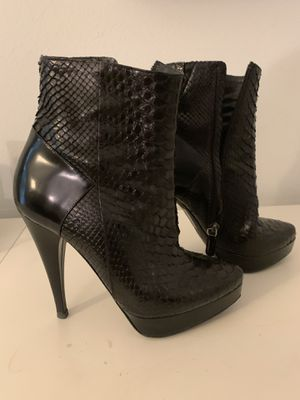 Authentic snakeskin booties - Barbara Bui, size 37 (7 US) for Sale in Miami, FL