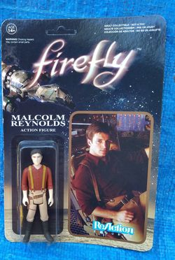 Funko Super 7 Firefly Malcolm Reynolds Action Figure MOC Unpunched 2014 Reaction for Sale in Pasadena,  CA