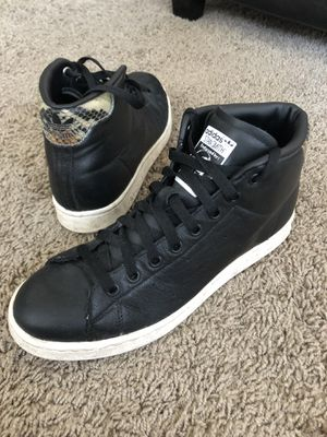 Adidas Originals Stan Smith - Black Leather Gold Snake High-Tops Mens US 8 for Sale in Los Angeles, CA