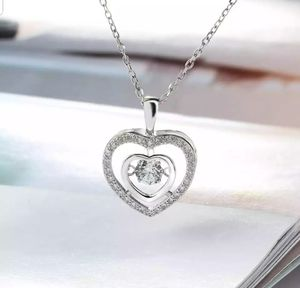 Solid 925 Sterling Silver Heart Shape VVS1 Lab Diamond Pendant Necklace (chain 45cm) for Sale in Silver Spring, MD