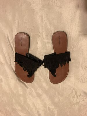 XHILIRATION Brown Suede Fringe Sandals for Sale in Austin, TX