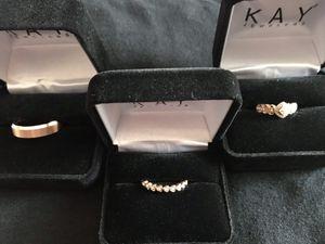 Women's 14K Rose Gold Wedding Diamond Engagement Set & Men's triton wedding ring for Sale in Peterstown, WV