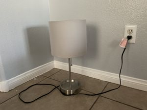 Lamp with gray shade cover for Sale in Henderson, NV