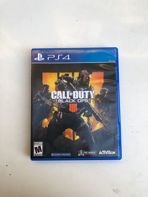 Black ops 4 ps4 for Sale in Irwindale, CA