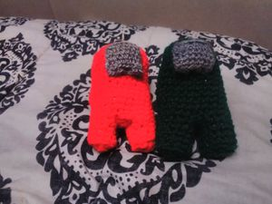 Among us red or green paper stuffed plushie for Sale in Virgie, KY