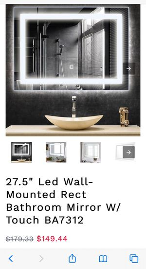 Led wall mounted mirror for Sale in Rancho Cucamonga, CA