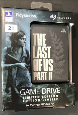 The Last of Us Part II 2 Limited Edition Seagate 2TB External Hard Drive PlayStation for Sale in Sugar Land, TX