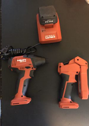 Hilti- drill/light/battery and charger for Sale in Sunrise, FL