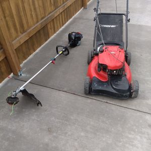 Craftsman Lawn Mower And Four-cycle Weed Eater for Sale in Glendale, AZ