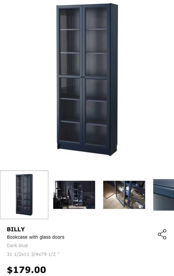 6-shelf Enclosed Bookcase (glass doors)