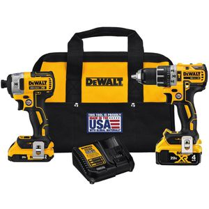 DEWALT 20-Volt MAX XR Lithium-Ion Cordless Brushless Drill/Impact Combo Kit (2-Tool) with (1) Battery 2Ah and (1) Battery 4Ah for Sale in Buffalo Grove, IL
