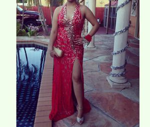 Red and Gold Prom dress! for Sale in Hialeah, FL