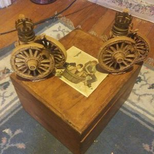 Pair Of 1963 Wagon Wheel Oil lamps for Sale in Seale, AL