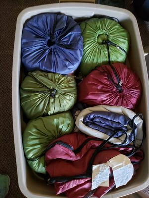Sleeping bags 7 adult size good shape for Sale in Tacoma, WA