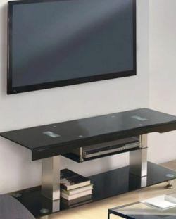 """60"""" TV Console in Black with Chrome for Sale in Montebello,  CA"""