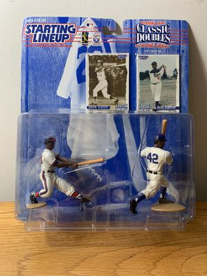Hank Aaron Jackie Robinson Collectible Action Figure Set for Sale in Tampa, FL