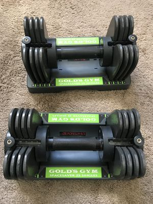 Gold gym weight (space saving) adjustable for Sale in San Diego, CA