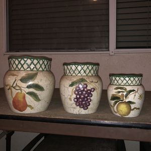 Vintage Set of (3) Kitchen Jars for Sale in Perris, CA