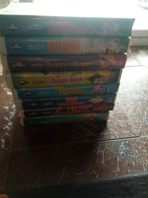 8 BLACK DIAMOND DISNEY TAPES VHS EXCELLENT CONDITION $10 EACH OR ALL FOR $65 MUST PICK UP for Sale in Phoenix, AZ