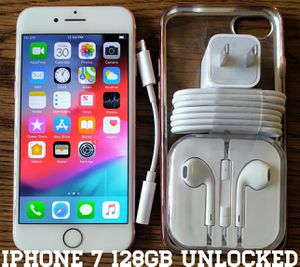 Iphone 7 (128GB) Factory-UNLOCKED + Accessories for Sale in Alexandria, VA