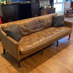 Timothy Oulton Brown Leather Couch for Sale in Los Angeles,  CA