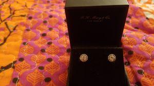 Diamond halo stud earrings for Sale in Austin, TX