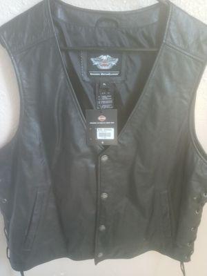 Harley Davidson leather vest for Sale in Fresno, CA