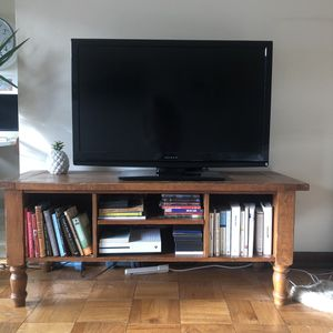 Pottery Barn solid wood TV stand for Sale in Seattle, WA