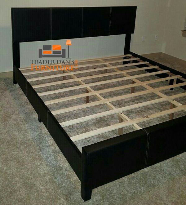 Brand New King Size Leather Platform Bed Frame