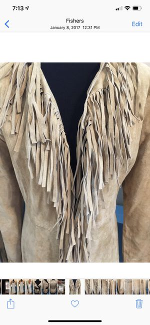 Wilson's Leather Suede Fringe Trench Coat for Sale in Fishers, IN