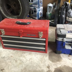 Craftsman 3 Shelf open top toolbox Tool box for Sale in Euless, TX