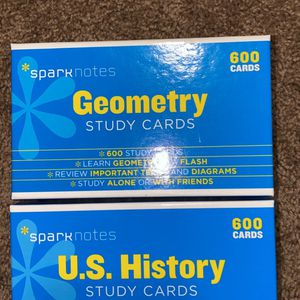 Geometry And US History Study Cards for Sale in Centreville, VA