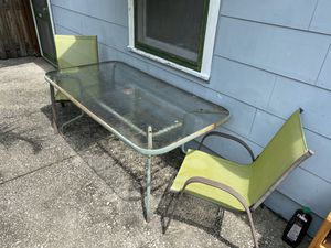 Free patio table and 2 chairs for Sale in St. Petersburg, FL