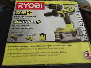 18-Volt ONE+ Lithium-Ion Cordless Brushless 1/2 in. Hammer Drill/Driver Kit with 4.0Ah LITHIUM+ Battery, Charger and Bag for Sale in Fort Lauderdale, FL
