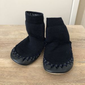 Hannah Anderson Navy moccasins 6-12 month for Sale in Oakley, CA