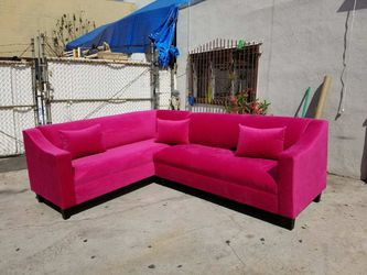 NEW 7X9FT PINK FABRIC SECTIONAL COUCHES for Sale in Corona,  CA