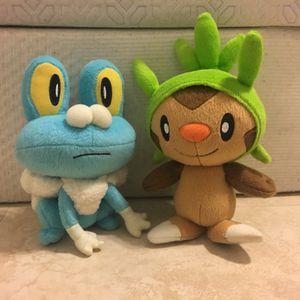 Pokémon X & Y Plushies (Froakie/Chespin) for Sale in Miami, FL