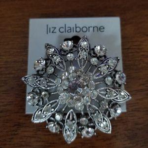 Liz Claiborne Silver Rhinestone Fashion Brooch/New for Sale in Germantown, MD