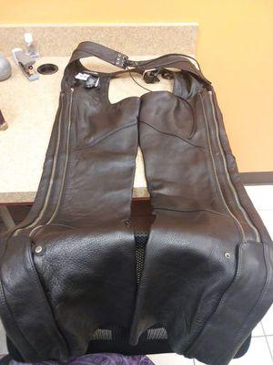 Harley Davidson leather chaps for Sale in Harlingen, TX