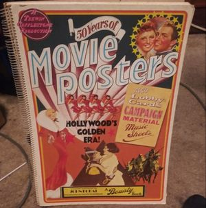 VINTAGE MOVIE POSTER BOOK for Sale in Columbus, OH