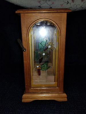 Centurion Wood & Floral Stain Glass Standing Jewelry Box for Sale in Rockville, MD